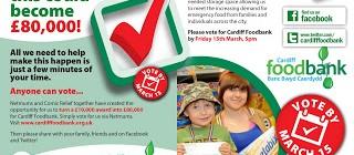Help Cardiff Foodbank towards £80,000