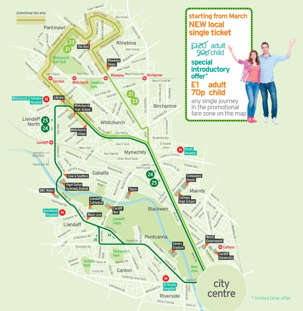 Cardiff Bus Map News on Cardiff Bus services and fares – Rhiwbina Info