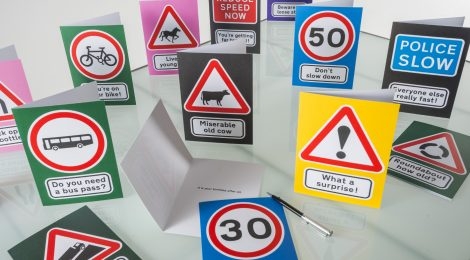 Laughs ahead! Rhiwbina cards add humour to traditional road signs